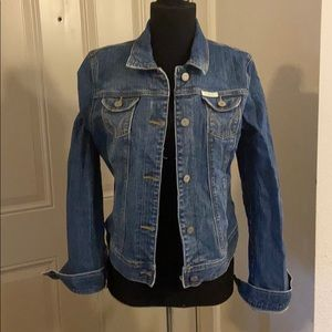 Hollister Jean Denim Jacket Distressed Vintage